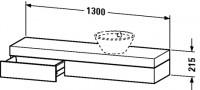 Duravit Konsole mit Schubkasten Fogo T:360, B:1300, H:215mm, FO83810