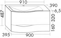 Burgbad Mineralguss-Waschtisch und Waschtischunterschrank Sinea 2.0 Weiß Matt/Alpinweiss, SFFQ091LF2