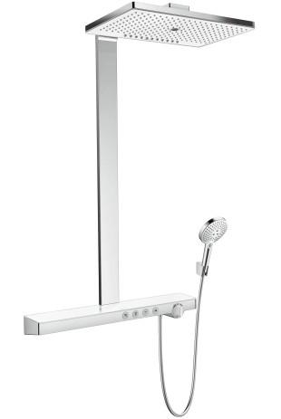 Hansgrohe Showerpipe Rainmaker Select E 460 3jet EcoSmart weiss/chrom, 27029400