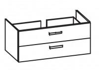 Artiqua Serie 414 Waschtischunterschrank mit 2 Auszügen, 414-WU2L-V135-7015-51