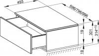 Bette Mod Lowboard-Abdeckpl-Sockel 1 Aus, 60x49,5cm Eiche Natur Furnier boden-wand, RC02-814