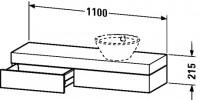 Duravit Konsole mit Schubkasten Fogo T:360, B:1100, H:215mm, FO83750