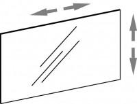 Artiqua COLLECTION 415 Variabler Spiegel auf Trägerplatte