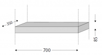 Sanipa Plattenmodul 2morrow PM02335, Pinie-Schwarz