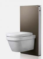 Geberit Monolith Plus Sanitärmodul für Aquaclean 8000 / 8000plus 131232SQ1, 114cm, Glas umbra