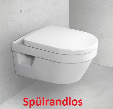 Omnia architectura Wand-Tiefspül-WC, spülrandlos (wasserrandlos) 5684R001