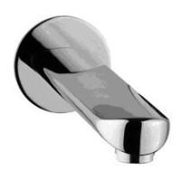 Herzbach Memo Wandauslauf 200mm, runde/ovale Ausführung mit Rosette chrom, 16.452000.1.01