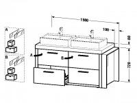 Duravit Waschtischunterschrank stehend 2nd floor 810x1580x720mm