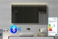 Neuesbad Alu LED Spiegelschrank mit Bluetooth Lautsprecher, B:1420, H:700, T:120 mm