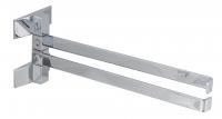 KOH-I-NOOR LeM 5806 Schwenkbarer Handtuchhalter 30x 9x 9 cm chrom, Einfahe Montage ohne Bohren