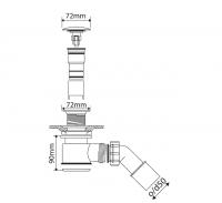 Marmorin Ablaufgarnitur Klick-Klack, ohne Überlauffunktion, chrom