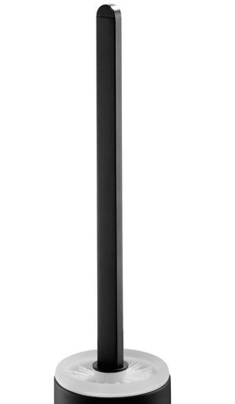 Neuesbad Futura black Ersatzstiel mit Bürste für Bürstengarnitur, Farbe: schwarz matt