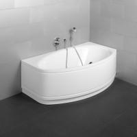 Bette Oval-Badewanne Pool II Comfort 6055, 164x96x45 cm Ecke rechts weiß, 6055-000CELV