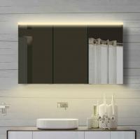 Neuesbad Alu LED Spiegelschrank, Lichtfarbe wählbar, B:1200, H:700 mm