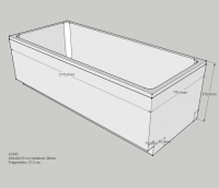Schedel Wannenträger für Kaldewei Silenio 1800x800