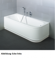 Bette Rechteck-Badewanne Form Comfort 3800, 180x80x42 cm