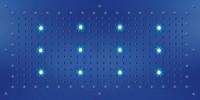 Bossini Kopfbrause Dream XL Flat RGB Cromotherapie mit 12 LEDs B: 1000 T: 500 mm