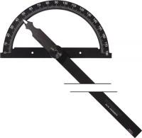 NORDWEST Handel AG Winkelmesser Gradbogen-D.80mm Schenkel-L. 120mm PROMAT,