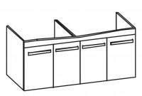 Artiqua Serie 414 Waschtischunterschrank mit 4 Türen, Türanschlag v.l.: L/R/L/R, Türbreite v.l.: 32,