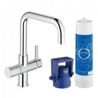 Grohe Blue Pure Starter Kit 31299 für BWT-Filter U-Auslauf chrom