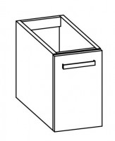 """Artiqua COLLECTION 413 Waschtischunterschrank zu """"iCon XS""""124736 B:330mm 1 Tür"""
