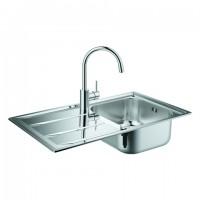 GROHE Spülen-Bundle K400 31570 mit Edelstahlspüle/Concetto Küchenarmatur , 31570SD0