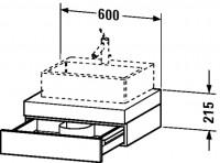 Duravit Konsole mit Schubkasten Fogo T:550, B:600, H:215mm, FO85200