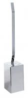 KOH-I-NOOR LeM 5811 Toilettenbürstengarnitur Wandmodell chrom, Einfahe Montage ohne Bohren