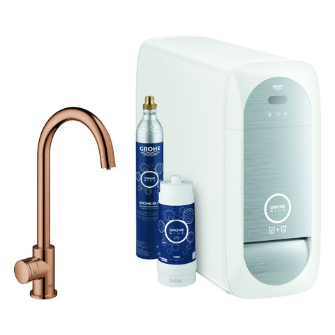 GROHE Blue Home Mono Starter Kit 31498 Bluetooth/WIFI C-Auslauf warm sunset, 31498DA1