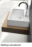 ArtCeram Block Waschtisch / Aufsatzwaschtisch, B: 650, T: 410 mm, schwarz / weiss Dekor