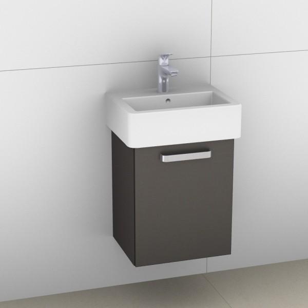 Artiqua 411 Waschtischunterschrank für Vero 070445, Stahlgrau Metallic, 411-WUT-D22-R-7141-88