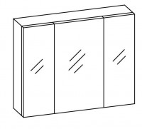 Artiqua COLLECTION 415 Spiegelschrank B:920mm 3 Doppel-Spiegel-Türen