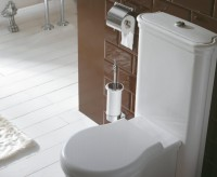 Globo Paestum Toilettenbürstengarnitur chrom, Wandmodell