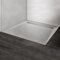 HSK Duschbodenelement mit Renodeco-Oberfläche und integrierter Ablaufrinne, 90 x 90 x 4,5 cm, Feinst