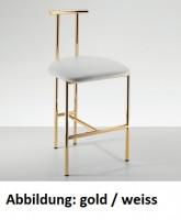 Decor Walther DWH 2 Badhocker - gold /schwarz