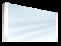 Schneider Spiegelschrank Pepline 120/2/FL, 2x24W+1x14W 1200x640x120 weiss, 153.120.02.02