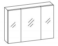 Artiqua COLLECTION 415 Spiegelschrank B:1000mm 3 Doppel-Spiegel-Türen