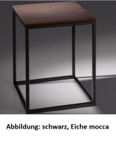 Bette Lux Shape Hocker weiß, Holz Eiche Mocca