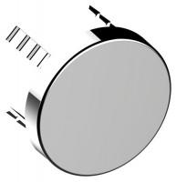 Keuco Abdeckblende Armaturenzubehör 59949, für Rohrunterbrecher, rund, verchromt, 59949010001