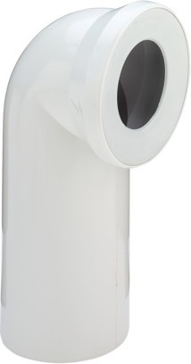 Viega WC Anschlussbogen 90 Grad 3811 in DN100 aus Kunststoff pergamon/camee