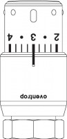 """OVENTROP-Thermostat """"Uni SH"""" 7-28 C,0 * 1-5,Flüssig-Fühler, verchromt"""