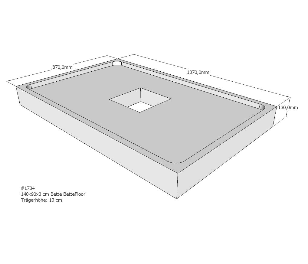 neuesbad wannentr ger f r bette floor 1400x900. Black Bedroom Furniture Sets. Home Design Ideas