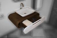 Neuesbad Premium Serie 2 Waschbeckenunterschrank hängend