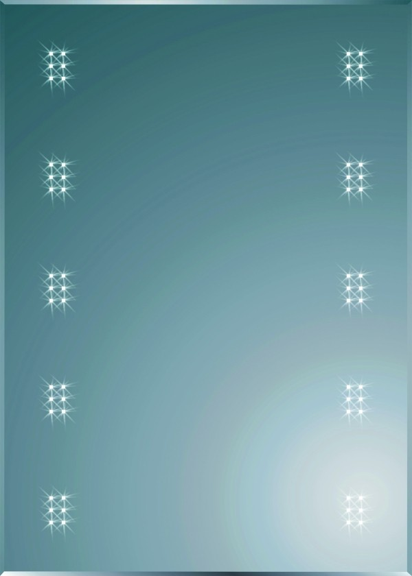 Spiegel LED-Wandspiegel Samos 700x500 410201