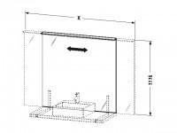 Duravit Spiegel mit Beleuchtung Delos 1116xvariabel x105mm, Anschlag rechts, DL7447R0000