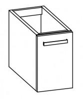 """Artiqua COLLECTION 413 Waschtischunterschrank zu """"iCon XS""""124836 B:330mm 1 Tür"""