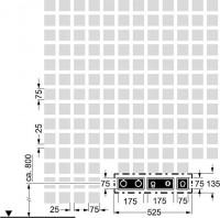 Hansa Fertigmont.-Installationspaket 6.2 zu Hansadesigno 4487 0121 chrom, 44870121