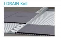I-DRAIN Keil rechts 1,48 m, Edelstahl, gebürstet, h1 10mm, h2 32mm