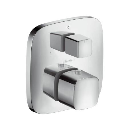 Hansgrohe Thermostat UP PuraVida F-Set chrom mit Absperr-und Umstellventil, 15771000