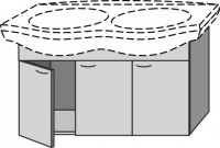 Sanipa Waschtischunterschrank mit Türen 2day SX18645, Noce-Ideale, H:565, B:1050, T:395 mm